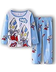 パジャマ キッズ 子供服 ジュニア 上下セット 長袖&長ズポン 90-130cm 綿100% ルームウェア 可愛い柔らかい 快適 肌触りがいい