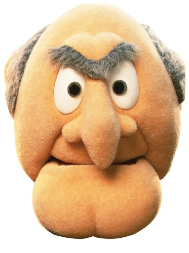 Star Cutouts Bedruckte Gesichtsmaske aus Pappe von Statler Muppets
