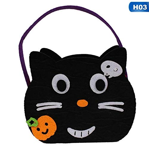 QLQGY Halloween-pompoen-snoepzakje leuk kind-driedimensionaal niet gesponnen hangend snoepdoos-zak-emmer-snoepjes-pannen-feest-decoratie