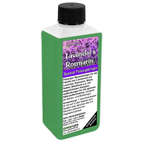 GREEN24 Lavendel & Rosmarin Dünger NPK Volldünger für Lamiaceae (Lavendula, Rosmarinus, Minze, Salbei, Basilikum) Pflanzen düngen