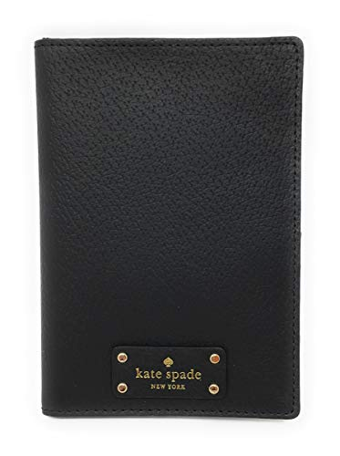 Kate Spade New York Grove Street Imogene Leather Passport Cover Wallet (Black)