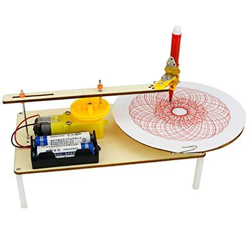 SODIAL Kreative Diy Puzzle Montiert Kits Kinder Handgemachte Graffiti Spielzeug Einfache Wissenschaft Gizmo Physik Experiment Ressourcen Elektrischer Plotter