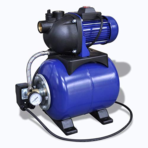 vidaXL Tuinpomp Elektrisch 1200 W Blauw Waterpomp Huishoudpomp Pompen Pomp