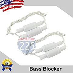 Pack of Four Non-Polar 10% Bass Blocker Capacitors -Removes selected frequencies from the audio source -Protects the speakers from receiving damaging frequencies -Encased in plastic casing with wire leads for simple and durable installation -Micro Fa...