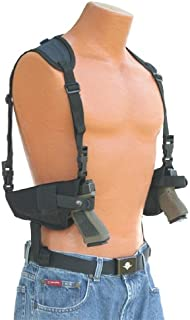 This horizontal double shoulder holster fits all Auto's with 4