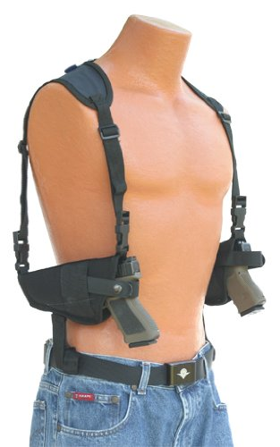 This Horizontal Double Shoulder Holster Fits All Auto's with 4' to 5' Barrels Beretta,Bersa,Browning,CZ,Colt,Glock,H&K,Hi-Point,Kimber,Ruger,Sig Sauer,Smith & Wesson,Springfield,Star,Taurus,Walther