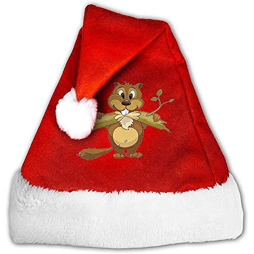 Kenice Weihnachtsmann Hut,Weihnachtsmützen,Rot Weihnachten Hüte,Santa Claus Mütze,Cartoon-Biber-Party-Dekoration,Weihnachtsfeiertags-Hut,Weihnachtsmann-Kappe M