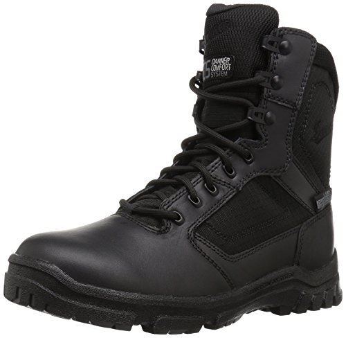 Danner mens Lookout Side-zip 8' Black Military Tactical Boot, Black, 11.5 US