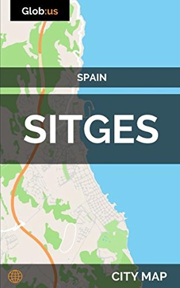 くるくる折る曖昧なSitges, Spain - City Map
