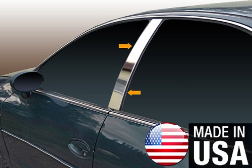 Made in USA! Works with 1995-1999 Oldsmobile Aurora 4 Door 4PC Stainless Steel Chrome Pillar Post Trim