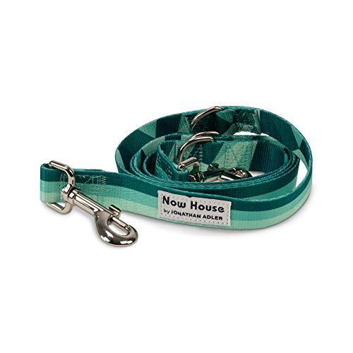 Jonathan Adler: Now House Green Chroma Multi-Functional Lead 6' | Stylish and Functional Way to Keep Your Dog Looking Great | Cute and Adorable Dog Accessories for Pets