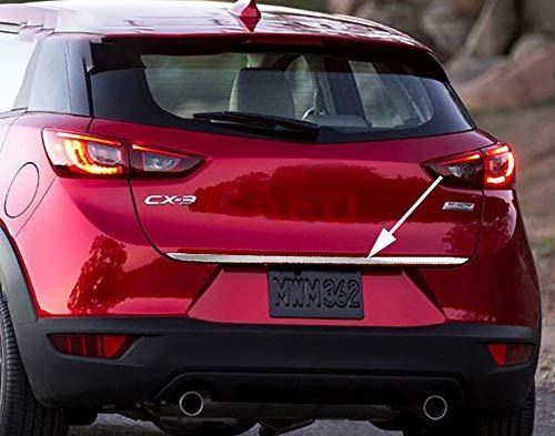 LSYBB 1 stücke Aufkleber Edelstahl hintertür Heckklappenverkleidung Autozubehör Für Mazda CX-3 2014-2018