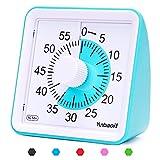 Yunbaoit - Temporizador analógico Visual, Cuenta atrás silencioso, Herramienta de gestión del Tiempo para niños y Adultos (Azul)