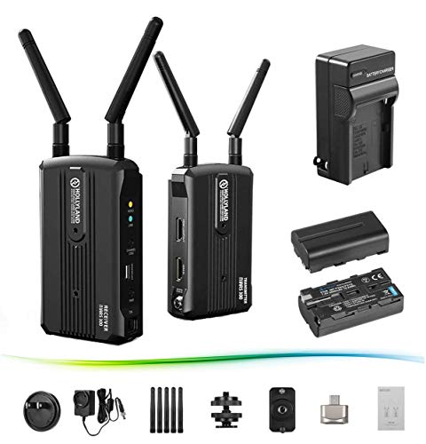 Hollyland Mars 300 5G Wireless HDMI Video Transmission System, Video Transmitter and Receiver Kit Support HD 1080P 300 Feet for DSLR Mirrorless Camera Gimbal Stabilizer with 2 Battery Pack/AC Charger