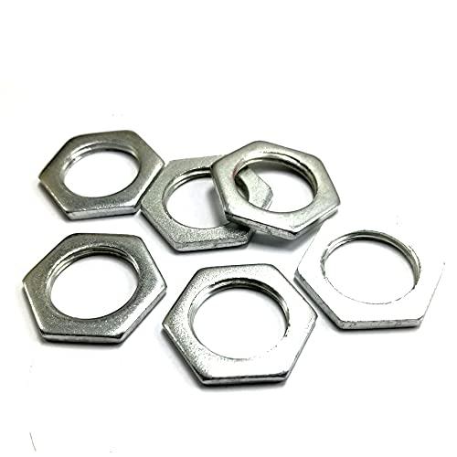 tuercas delgadas hexagonales, tuerca fina de rosca fina de acero al carbono M6-M24, B034-M20x1.5x3-70pcs