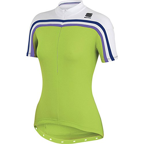 Sportful Damen Trikot Allure Short Sleeve, Damen, Apple Green/White, Medium