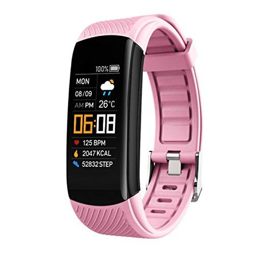 YXJ Pulsera De Fitness IP67 Impermeable Deporte Fitness Tracker Presión Arterial Pedómetro Smart Band Watch para Android iOS,F