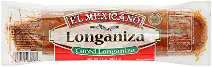 El Mexicano Cured Longaniza Sausage 10 Oz (6 Pack)