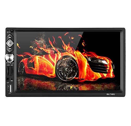 Doppel Din Autoradio mit Navi,7 Zoll 2 din Radio Win CE System Free 8GB Map,Mirrorlink,RDS Radio Tuner/Bluetooth/USB/TF/FM/AM//Aux/Unterstützung Lenkrad-Controller und Rückfahrkamera beschenken