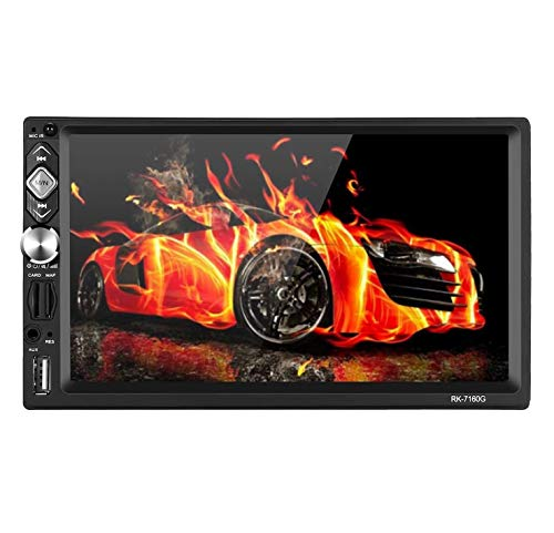 Doppel Din Autoradio mit Navi,7 Zoll 2 din Radio Win CE System Free 8GB Map,Mirrorlink,RDS Radio Tuner/Bluetooth/USB/TF/FM/AM//Aux/Unterstützung Lenkrad-Controller und Rückfahrkamera beschenken