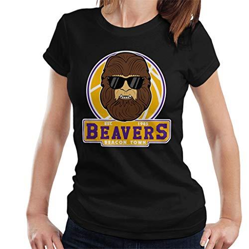 Women's Teen Wolf Beavers 80s T-shirt, Black