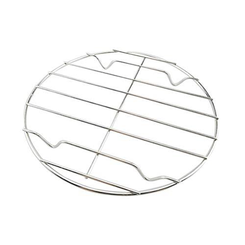 BESTONZON Edelstahl Grillrost Rund Abkühlgitter Backgitter Kuchengitter zum Keksen Braten Kuchen Räuchern Grillen Auskühlen 20 cm