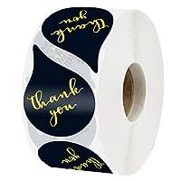 ギフトシール 手作りシール YIPINWLKJ 500枚セット 装飾用 ラベルDIY 手作り 自己接着 結婚式 誕生日 パーティー ラッピング ラベル 葉書き 手紙 封筒 ラッピング 涙目 かわいい 3つ色選択可能 (ブラック)