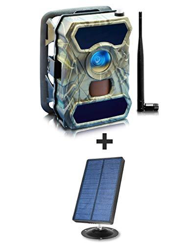 2-Pack 3G Cellular Trail Cam + 2-Pack Solar Panel Kit -...