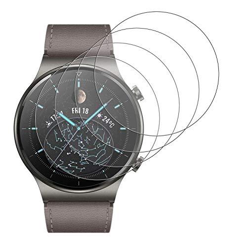 GEEMEE per Huawei Watch GT2 PRO Pellicola Vetro Temperato, 4 Pack Durezza 9H Copertura Completa Protezione Schermo Vetro Temperato Anti Graffi Protector per Watch GT 2 PRO (Trasparente)