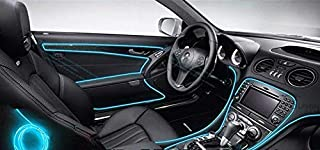 3 Meters Wire Rope interior Light for car Decor works on car lighter - Blue Color
