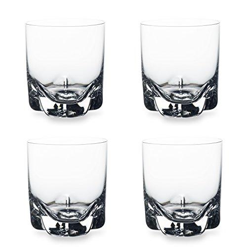 Bohemia Cristal 093 006 143 Whiskybecher circa 280 ml aus Kristallglas, 4-er Set,