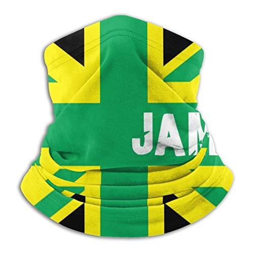 Bufanda multifuncional de la bandera del Reino de Jamaica con calentador a prueba de viento para la cara, color negro