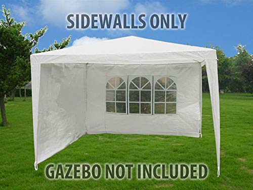 Marko Outdoor 3M x 2M White PE Gazebo Replacement Exchangeable Sidewalls Windowed Solid Sides