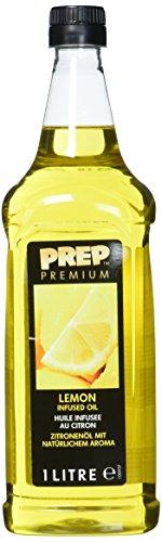 PREP PREMIUM Zitronenöl 1 x 1000 ml PET - Infused Oil natürliches Zitronenaroma für Fisch, Geflügel, Gemüsegerichte oder Salatdressings, Olivenöl mit Zitrone