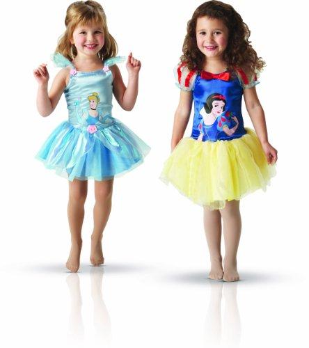 Rubie's-déguisement officiel - Disney- Déguisement Costume Pack Ballerine Blanche-Neige et Cendrillon - Taille 3-4 ans- 154515S