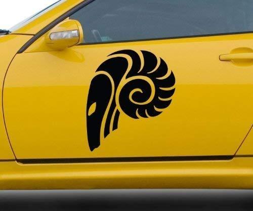 Autoaufkleber Sternzeichen Widder Sternbild Tattoo Auto Sticker Aufkleber 5Q525, Farbe:Königsblau Matt;Hohe:20cm