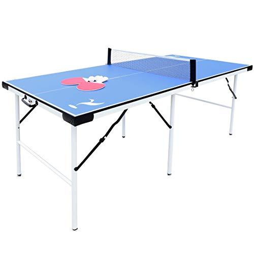 YP HLC Tischtennisplatte Faltbare Tischtennisplatte für den Heimgebrauch (5,5 Fuß)