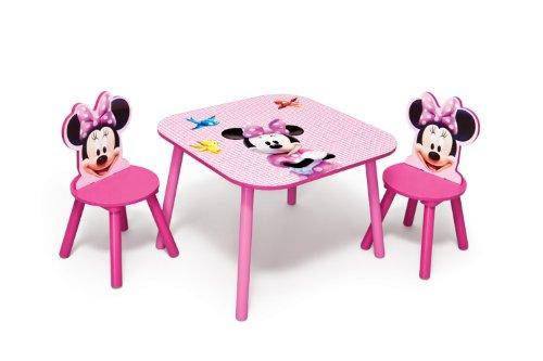 Delta TT 89429 - Mesa (60 x 60 cm) y Dos sillas, diseño de Minnie Mouse