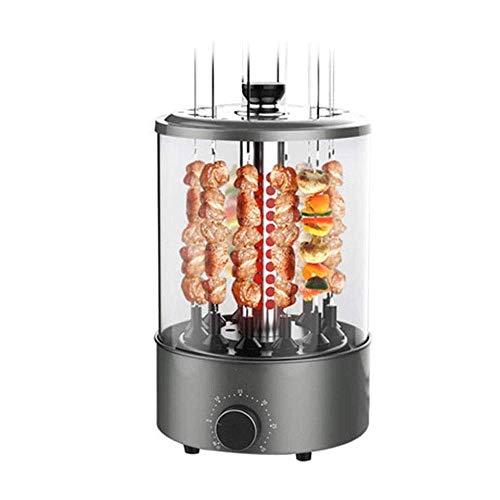 Horno asador Vertical multifunción de 1200 W, Parrilla eléctrica sin Humo, Parrilla de Barbacoa giratoria automática de 360 °, Horno asador infrarrojo, 12 Cuerdas