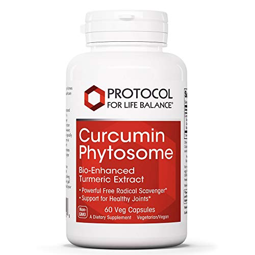 Protocol For Life Balance - Curcumin Phytosome - Bio-Enhanced Turmeric Root Extract to Support Inflamed Joints and Maintain Normal Cardiovascular Health - 60 Veg Capsules