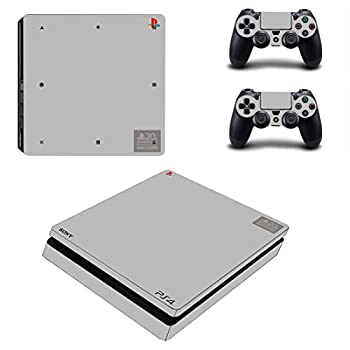 Adventure Games - PS4 SLIM - 20th Anniversary Limited Edition - Playstation 4 Vinyl Console Skin Decal Sticker + 2 Controller Skins Set