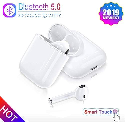 IITZ Cuffie Bluetooth 5.0,Auricolari Wireless Nuovi Auricolari in Alta fedeltà 3D Stereo con Microfono Incorporato e Chiamata Portatile per Compatibile Apple Airpods PRO Android/iPhone 11