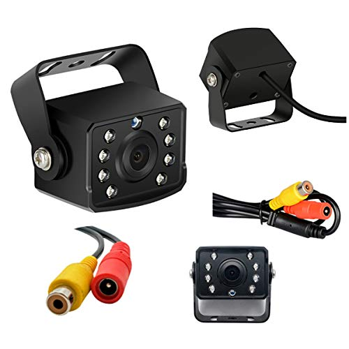 Car Reversing Camera, 140° Wide Angle HD Backup Camera, Waterproof Front Side View CCD Camera with Night Vision for Truck, Trailer, Emergency Vehicle, Boat, Bus