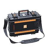FQ Caja de Herramientas, Caja de Carro de Engrosamiento Caja de Instrumentos de precisión ABS alemán Caja de Instrumentos de Sellado de Polvo Equipo Impermeable (Color : LA115111)