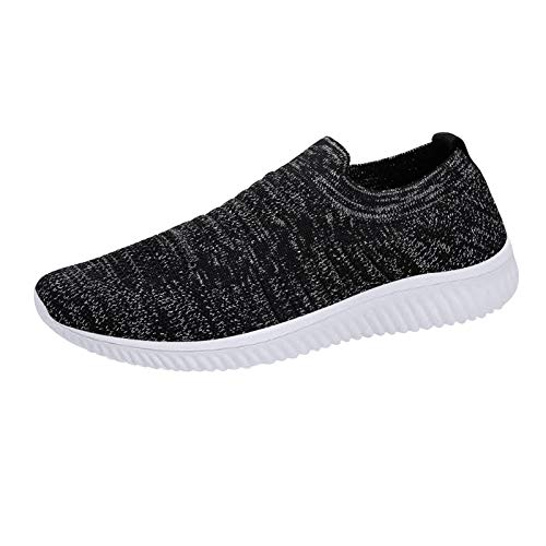 DAIFINEY Damen Freizeitschuh Sneaker Mesh Leichte Modische Turnschuhe Freizeit Atmungsaktiv Sportlicher Trainingsschuh Sportschuhe Laufschuhe(5-Schwarz/Black,35)