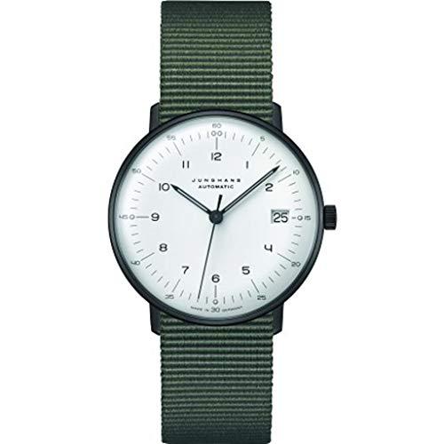 Junghans max Bill Armbanduhr Kleine Automatik Natoband Grün 027/4005.04