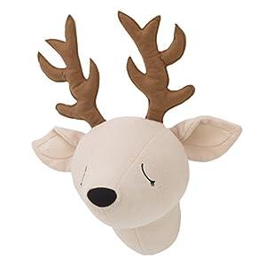 Little Love by NoJo – 3-D Deer Stuffed Wall Hanging Decor, Fauxidermy – Nursery, Bedroom or Playroom Décor Deer, Beige, Brown