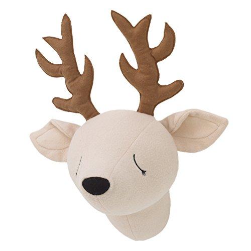 Little Love by NoJo – 3-D Deer Stuffed Wall Hanging Decor, Fauxidermy - Nursery, Bedroom or Playroom Décor Deer, Beige, Brown