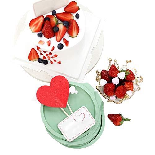 4Stück Regenbogenkuchen Silikon Backblech DIY Formen für Hochzeit Cup Kuchen Dekoration Silikonform Eiswürfel Fondant Gießform Silikon für Kuchen Backen Schokoladen Seife Gelee Muffin