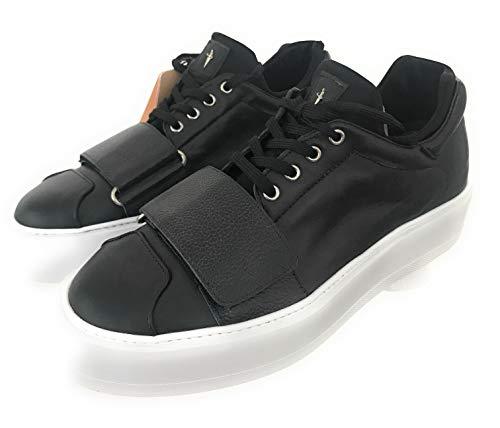 Cesare Paciotti , Herren Sneaker Schwarz schwarz, Schwarz - schwarz - Größe: 41 EU